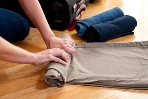 Maak worstjes van je kleren