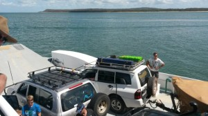 Fraser Island barge at inskip point