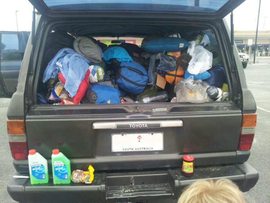 Fully packed four wheel drive for Fraser Island